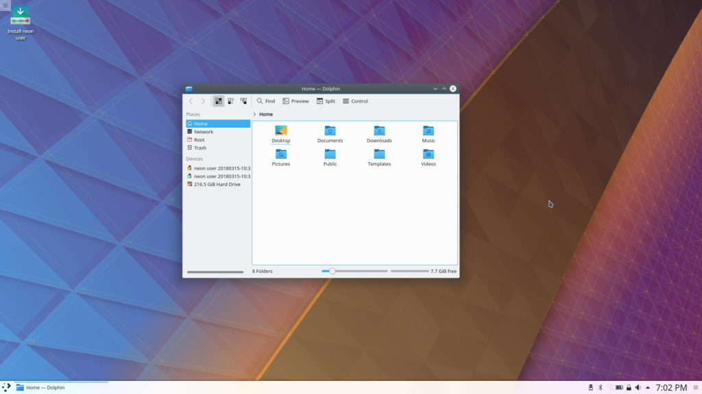 KDEneon Desktop